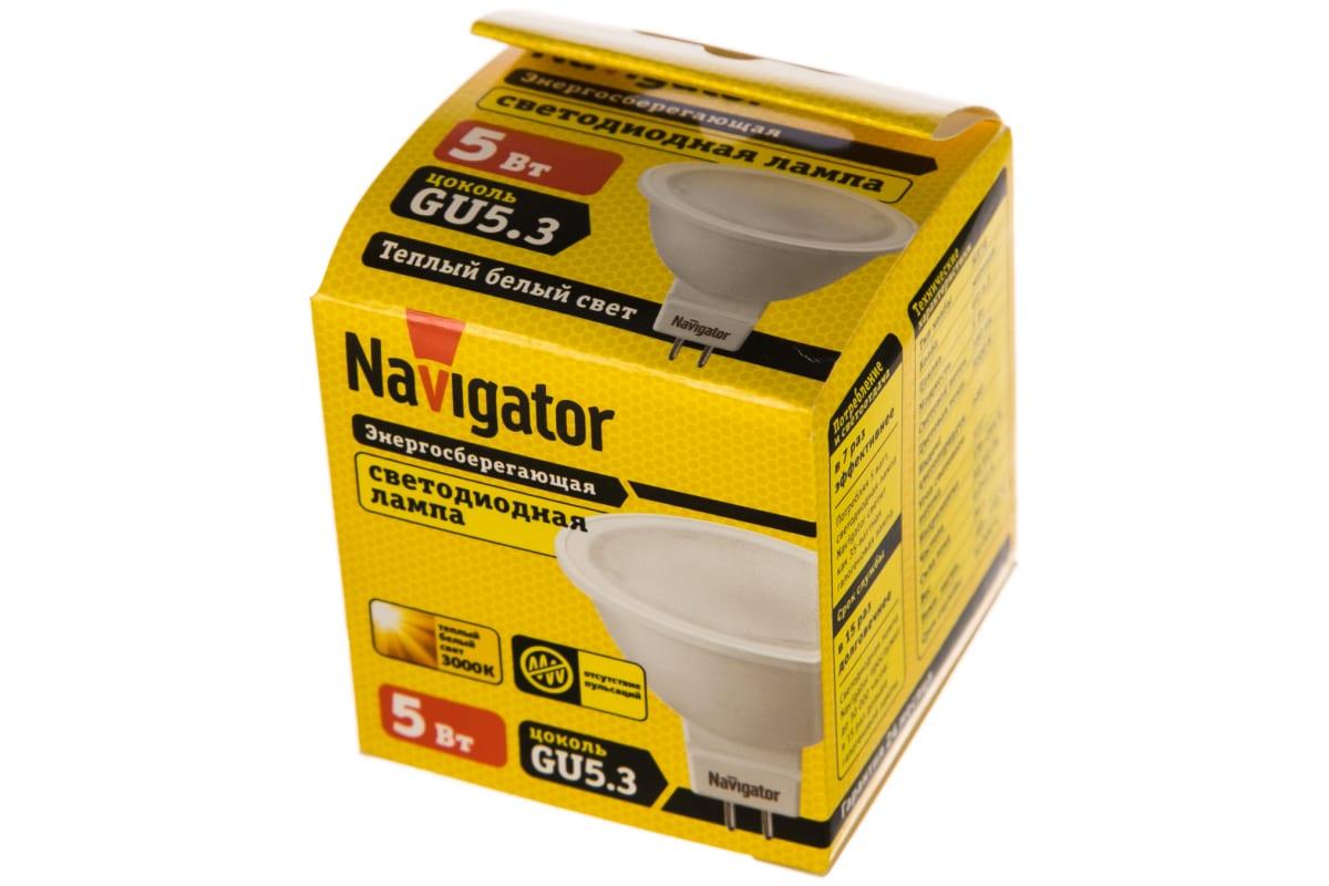 Светодиодная лампа NAVIGATOR NLL-MR16-5-230-3K-GU5.3 5Вт 3000К 170-260В 94263 200658
