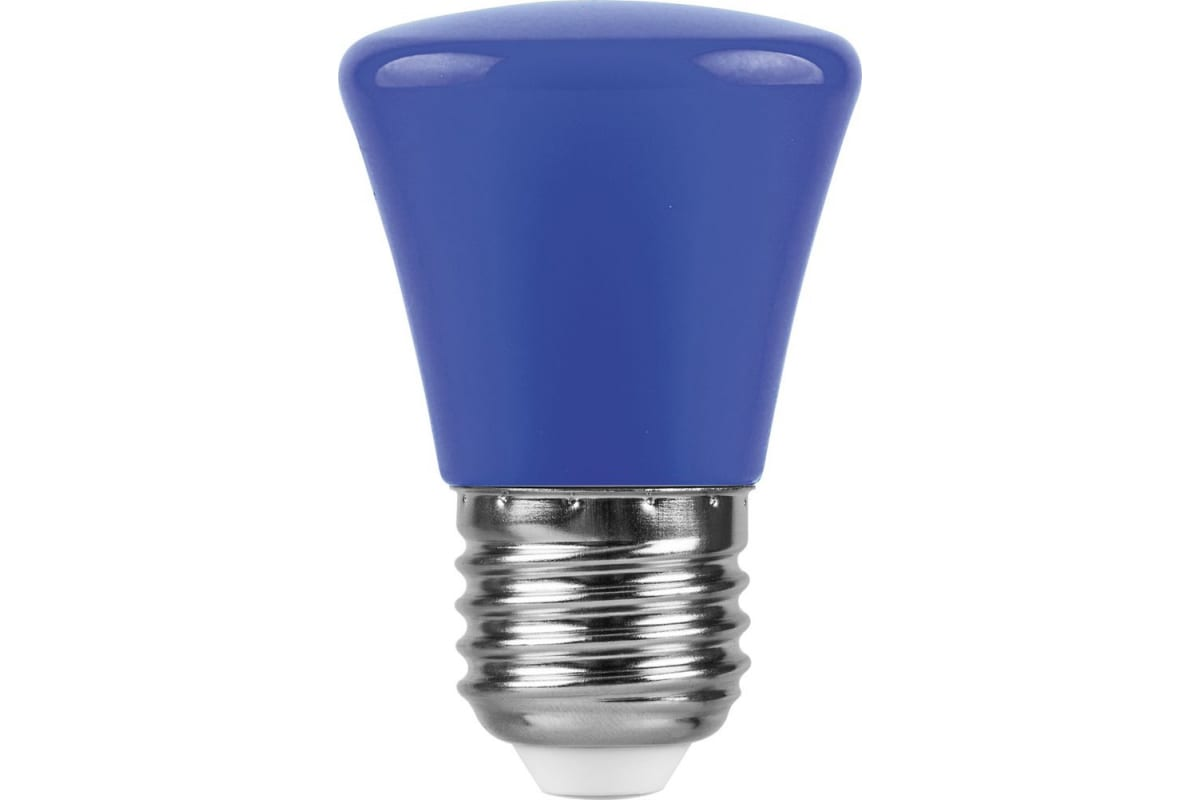 Светодиодная лампа FERON 1W 230V E27 синий LB-372 25913