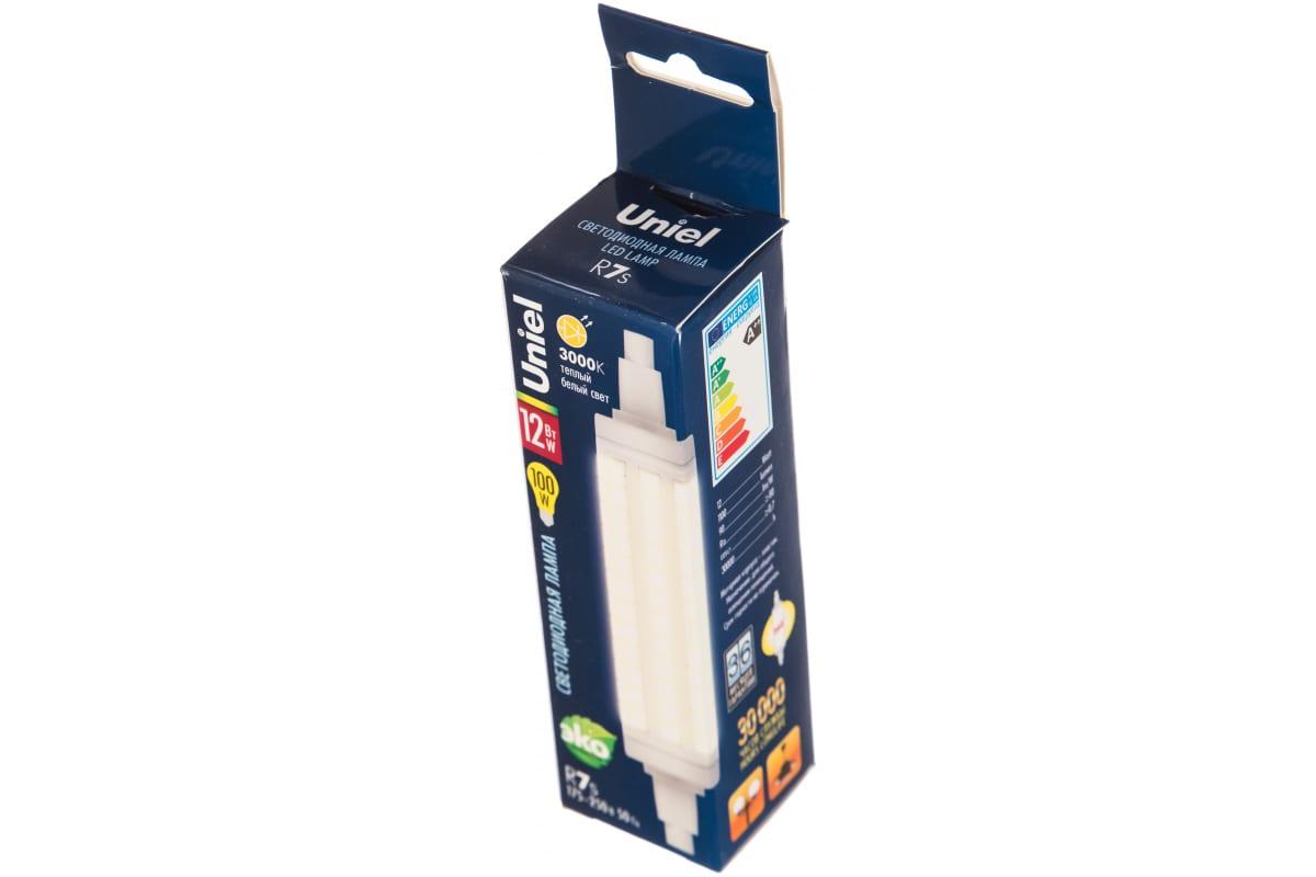 Светодиодная лампа Uniel прозрачная LED-J118-12W/WW/R7s/CL PLZ06WH UL-00001555