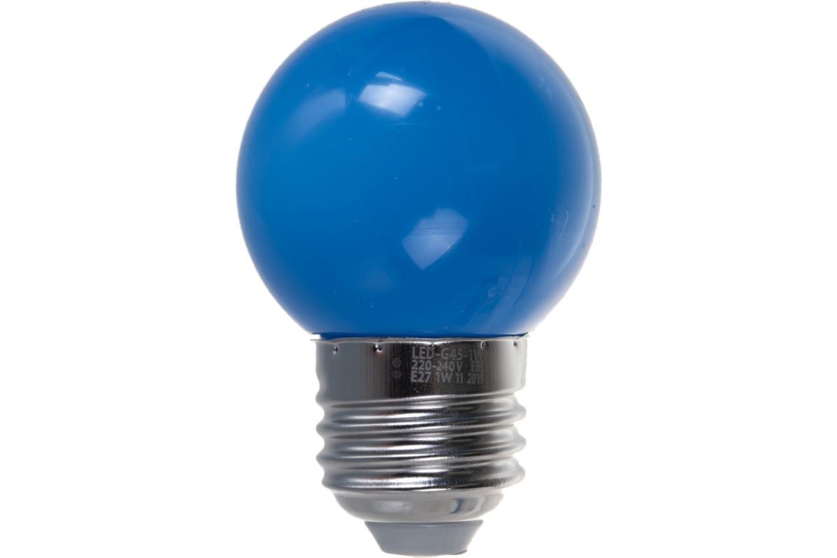 Декоративная светодиодная лампа Volpe LED-G45-1W/BLUE/E27/FR/С UL-00005647