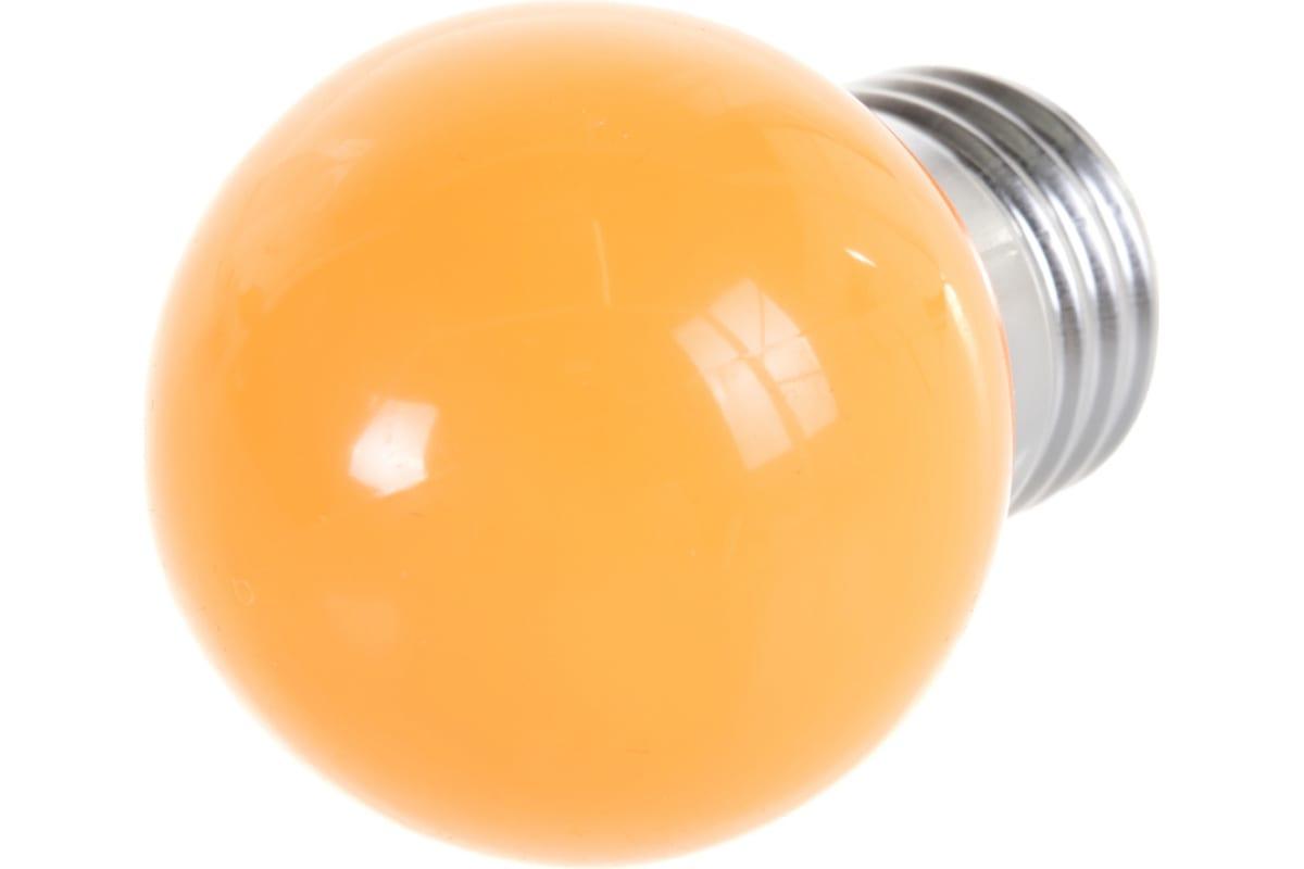Декоративная светодиодная лампа Volpe LED-G45-1W/ORANGE/E27/FR/С UL-00005650
