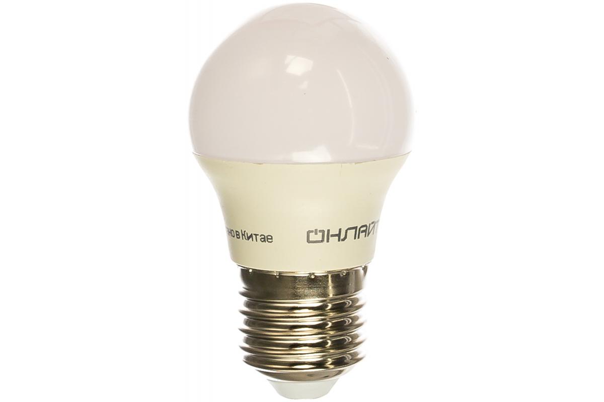 Лампа ОНЛАЙТ OLL-G45-8-230-2.7K-E27 71626