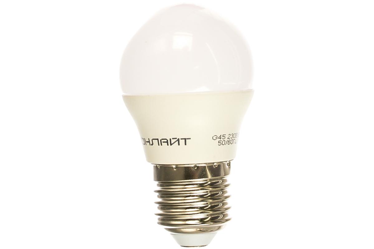Лампа ОНЛАЙТ OLL-G45-6-230-2.7K-E27 71645
