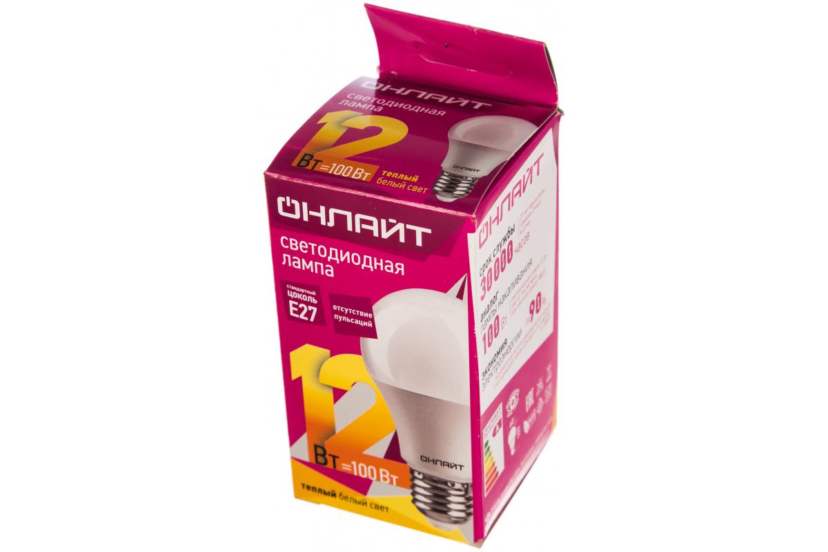 Лампа ОНЛАЙТ OLL-A60-12-230-2.7K-E27 71682