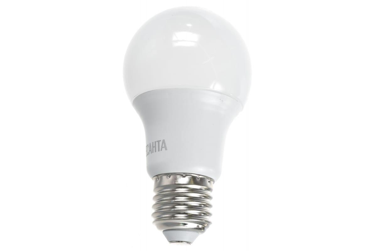 Светодиодная лампа Ресанта LL-R-A60-7W-230-4K-E27 /груша 7Вт нейтр. Е27/ 76/1/12