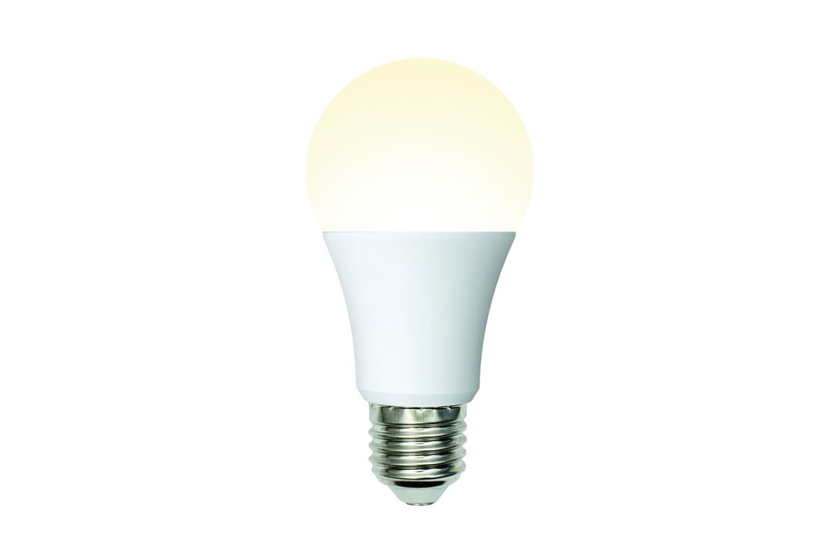 Светодиодная лампа Uniel LED-A60-10W/WW/E27/FR/MB PLM11WH Форма А матовая UL-00002371