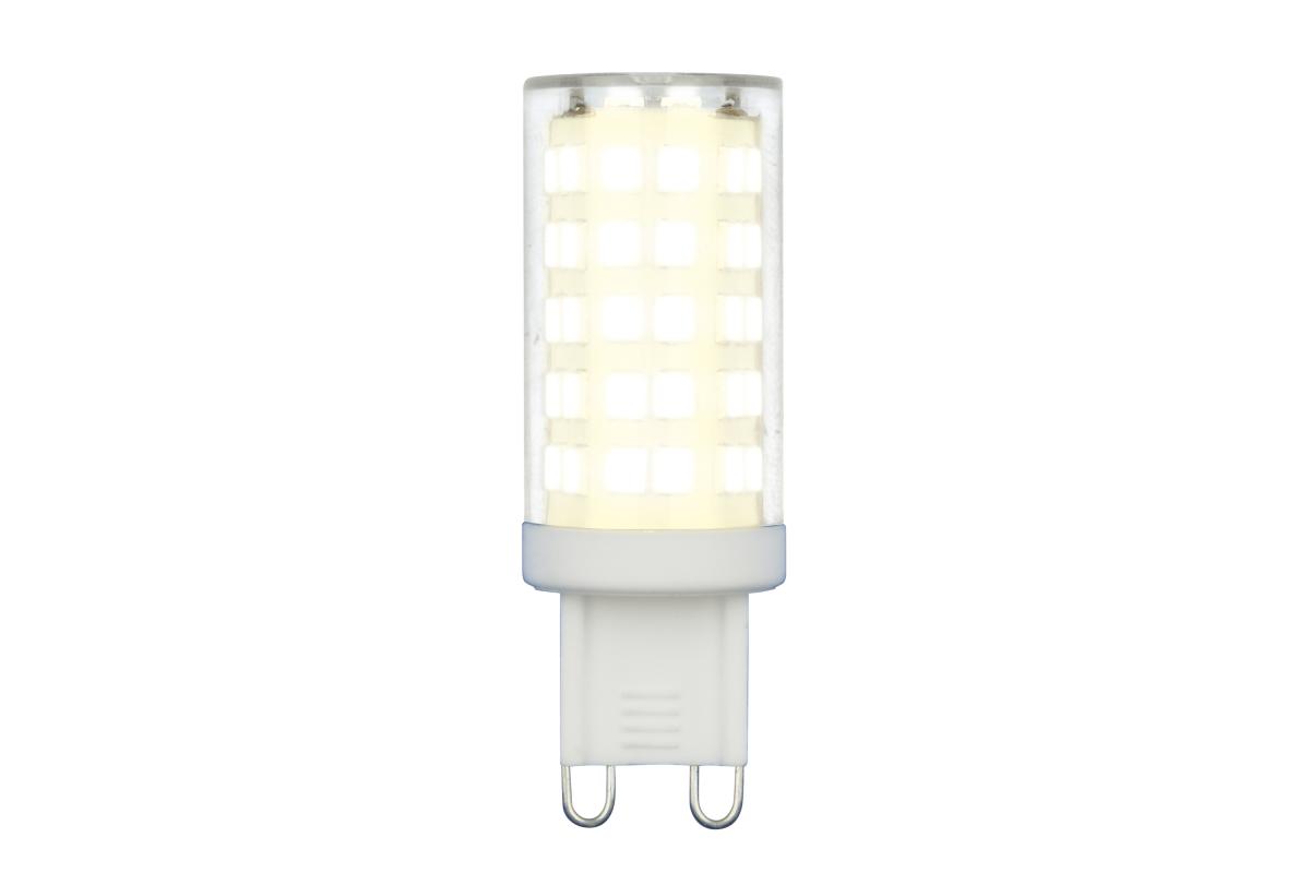 Светодиодная лампа Uniel LED-JCD-9W/4000K/G9/CL GLZ09TR прозрачная UL-00006489