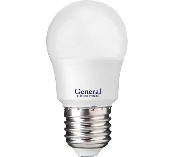 Светодиодная лампа General Lighting Systems Шарик G45F-10W-E27-683700 - цена, отзывы, характеристики, фото - купить в Москве и РФ