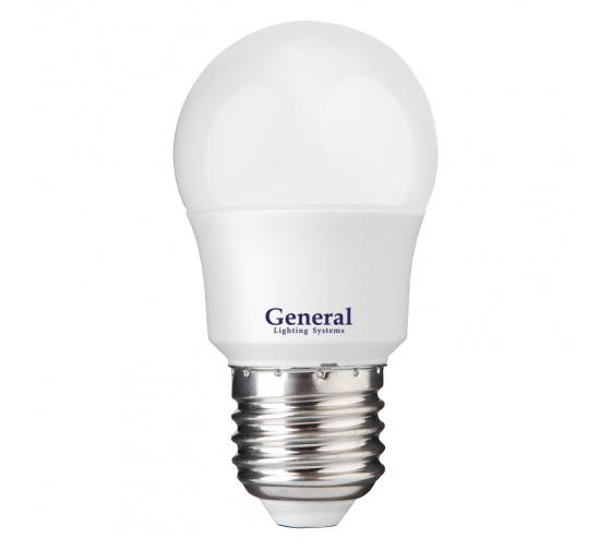 Светодиодная лампа General Lighting Systems Шарик G45F-12W-E27-641116 - цена, отзывы, характеристики, фото - купить в Москве и РФ