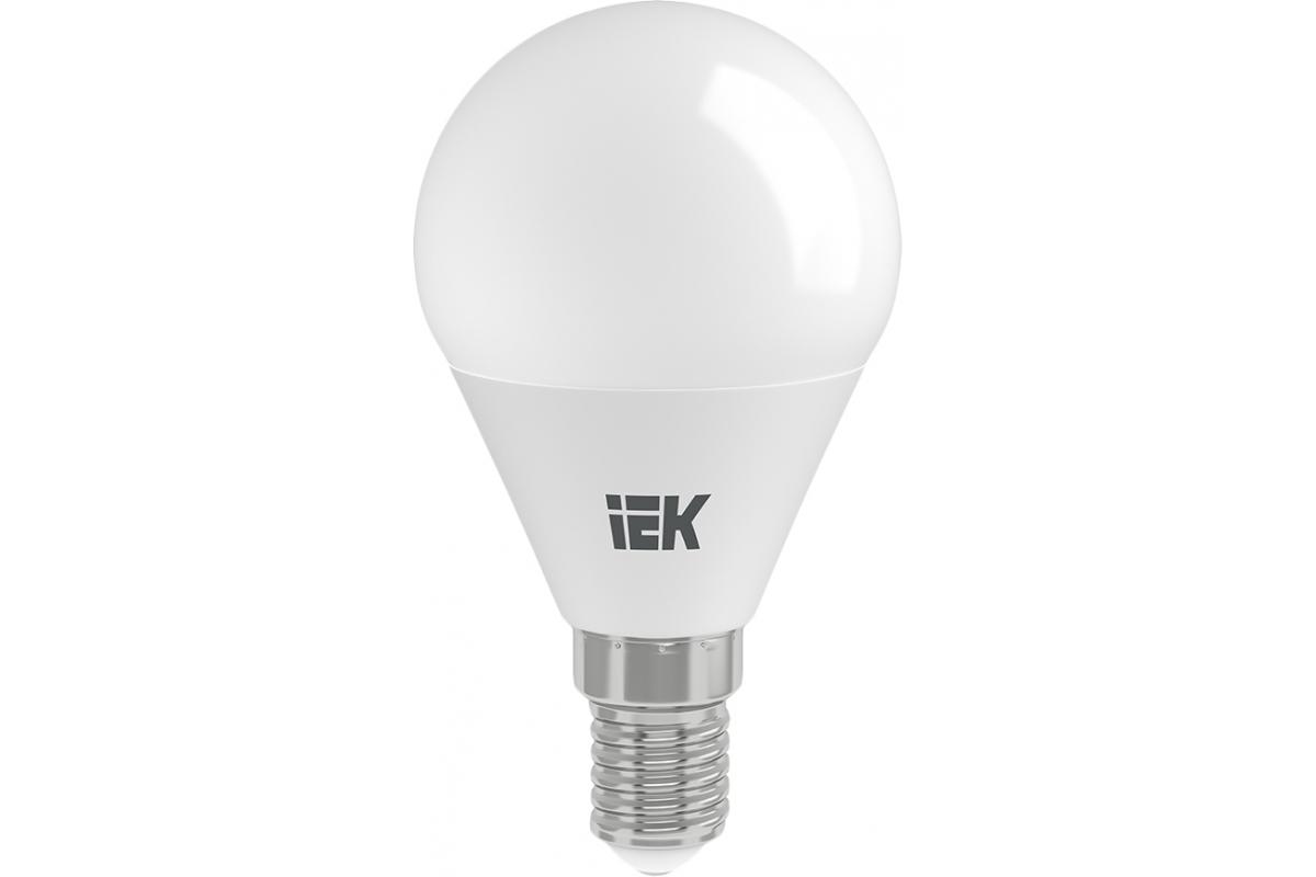 Лампа IEK LED G45 шар 7 Вт 230 В 3000К E14 LLE-G45-7-230-30-E14