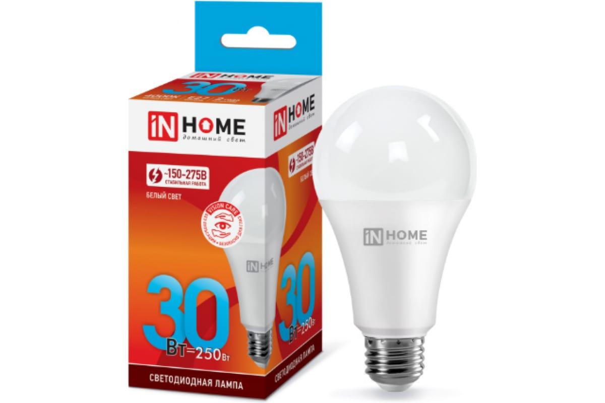 Светодиодная лампа IN HOME LED-A70-VC 30Вт 230В Е27 4000К 2700Лм 4690612024141