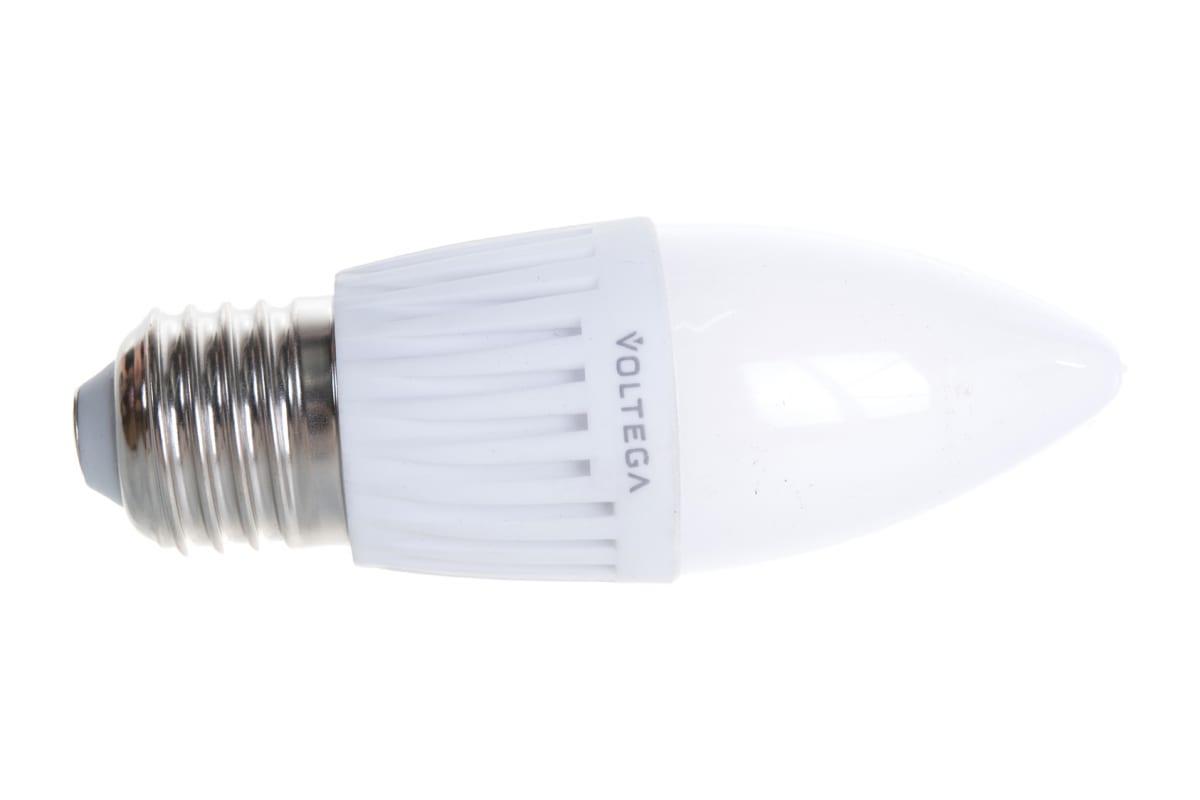 Светодиодная лампа VOLTEGA Свеча Е27 4000К 6.5W 5718