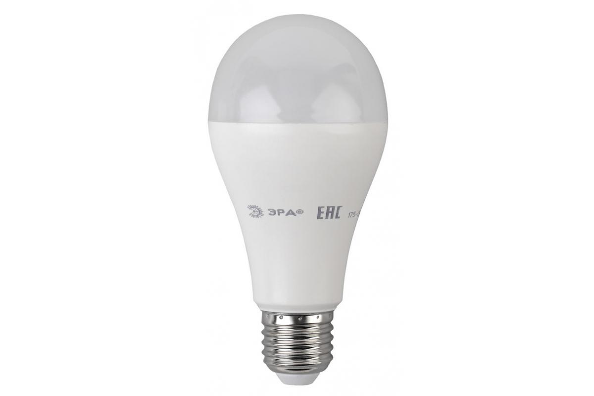 Светодиодная ламап ЭРА ECO LED A65 20W 827 E27 диод груша 20Вт теплый E27 Б0031709