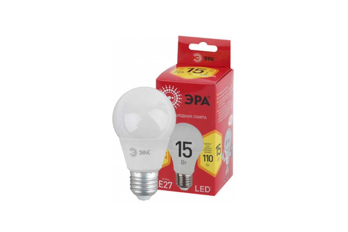 Светодиодная лампа ЭРА LED A6015W827E27 R груша 15Вт теплый E27 Б0046355