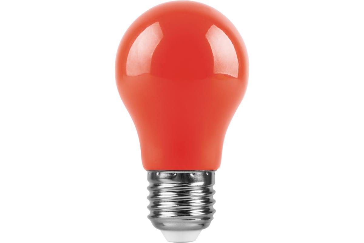 Светодиодная лампа FERON 230V E27 LB-375 красный 25924