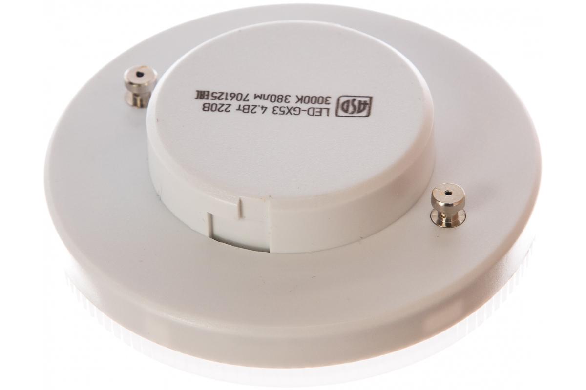 Светодиодная лампа ASD LED-GX53-std 4.2Вт 230В 3000К 380Лм 4690612005058