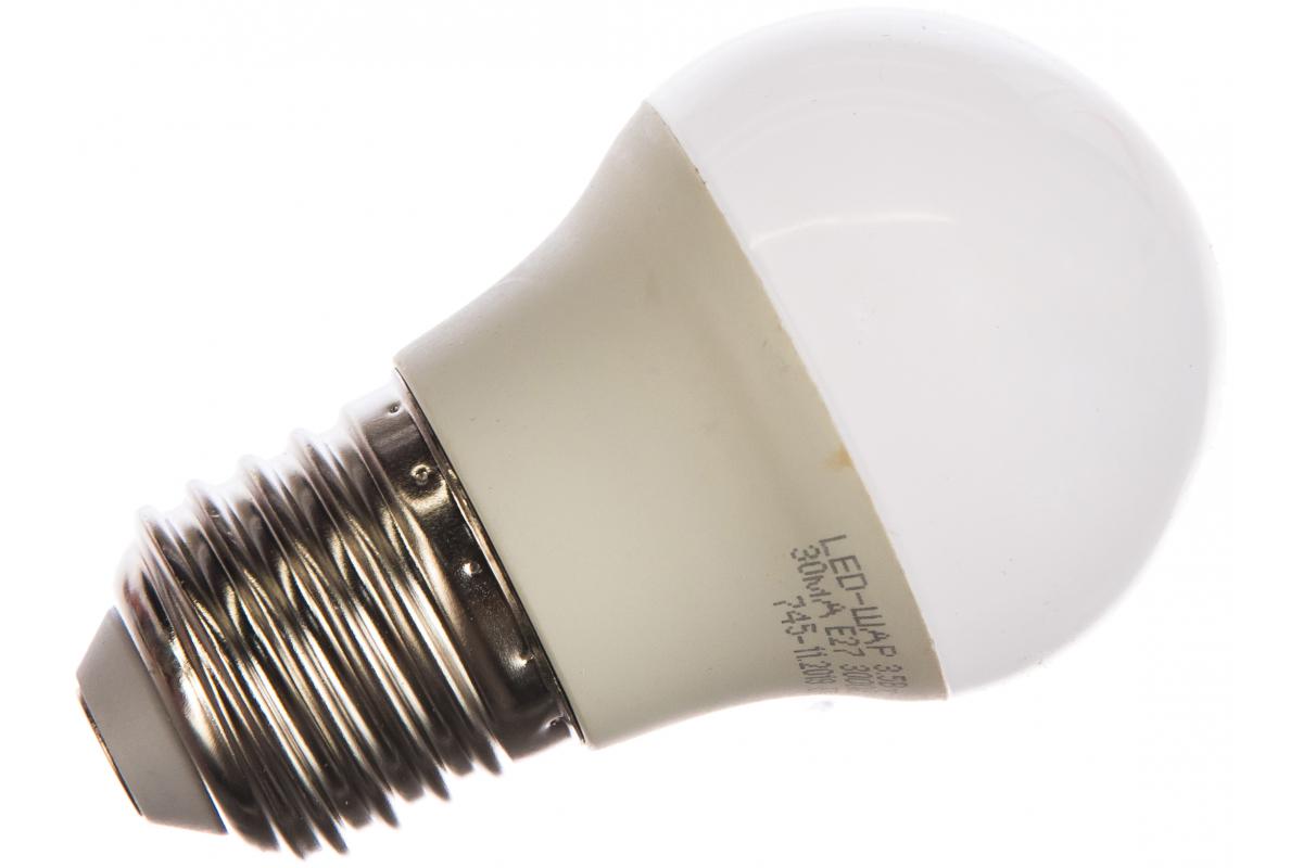 Светодиодная лампа ASD LED-ШАР-std 3.5Вт 4690612000374