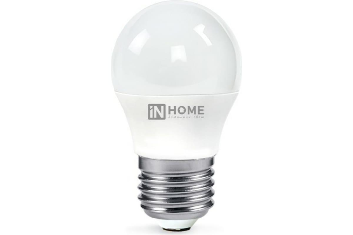 Светодиодная лампа IN HOME LED-ШАР-VC 11Вт 230В Е27 3000К 820Лм 4690612020600