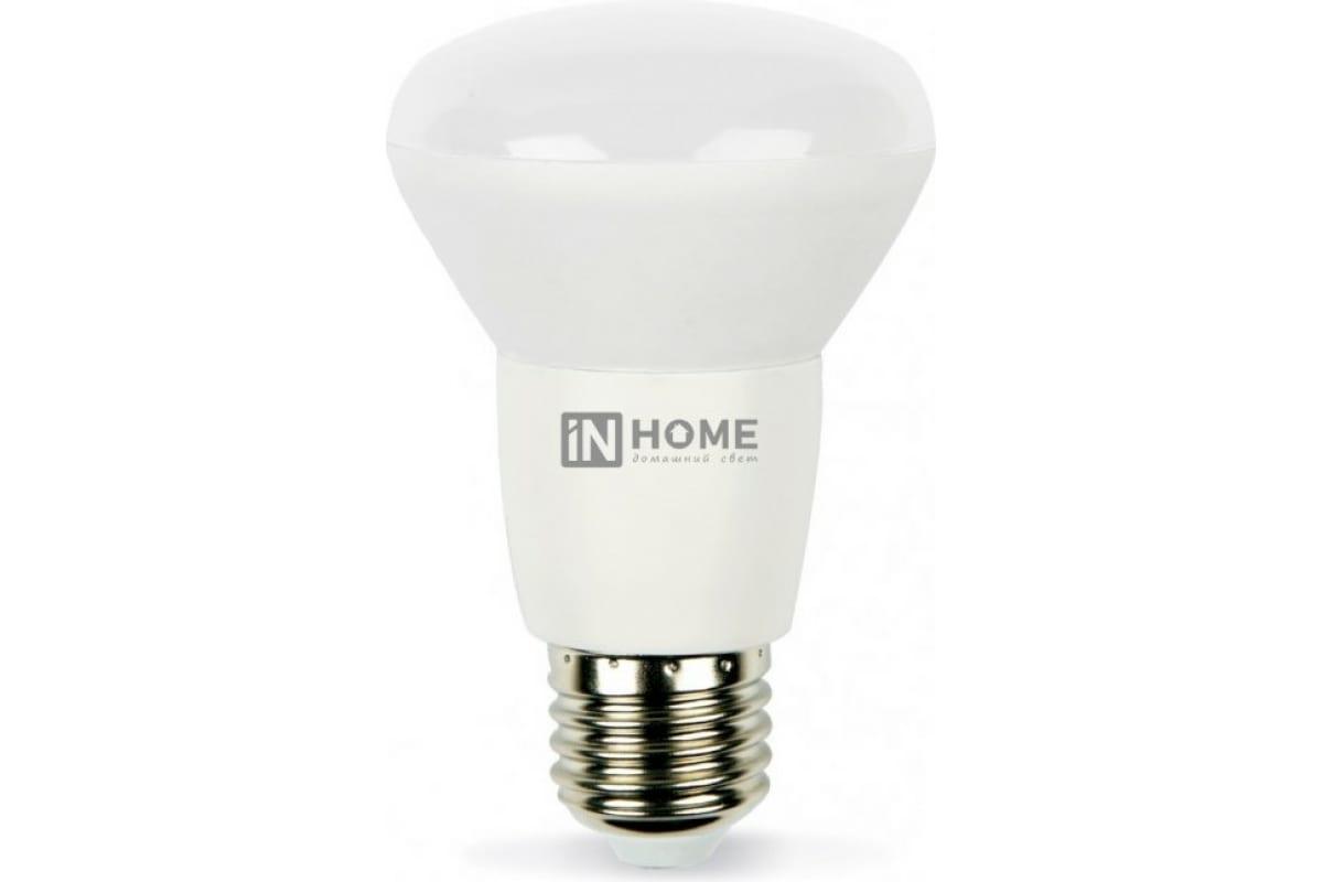 Светодиодная лампа IN HOME LED-R63-VC 9Вт 230В Е27 3000К 720Лм 4690612024301