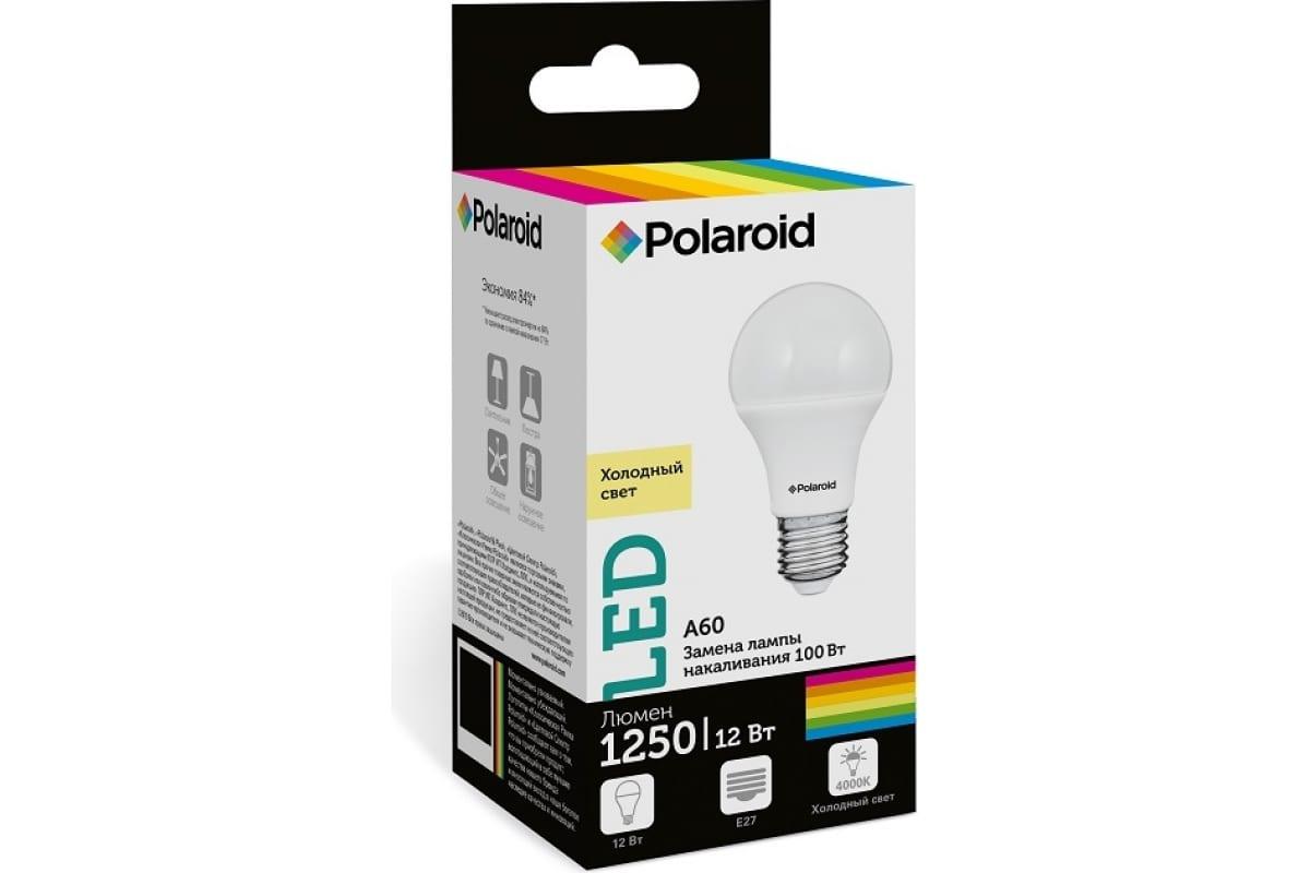 Светодиодная лампа Polaroid 220V A60 12W 4000K E27 1250lm PL-A60120274