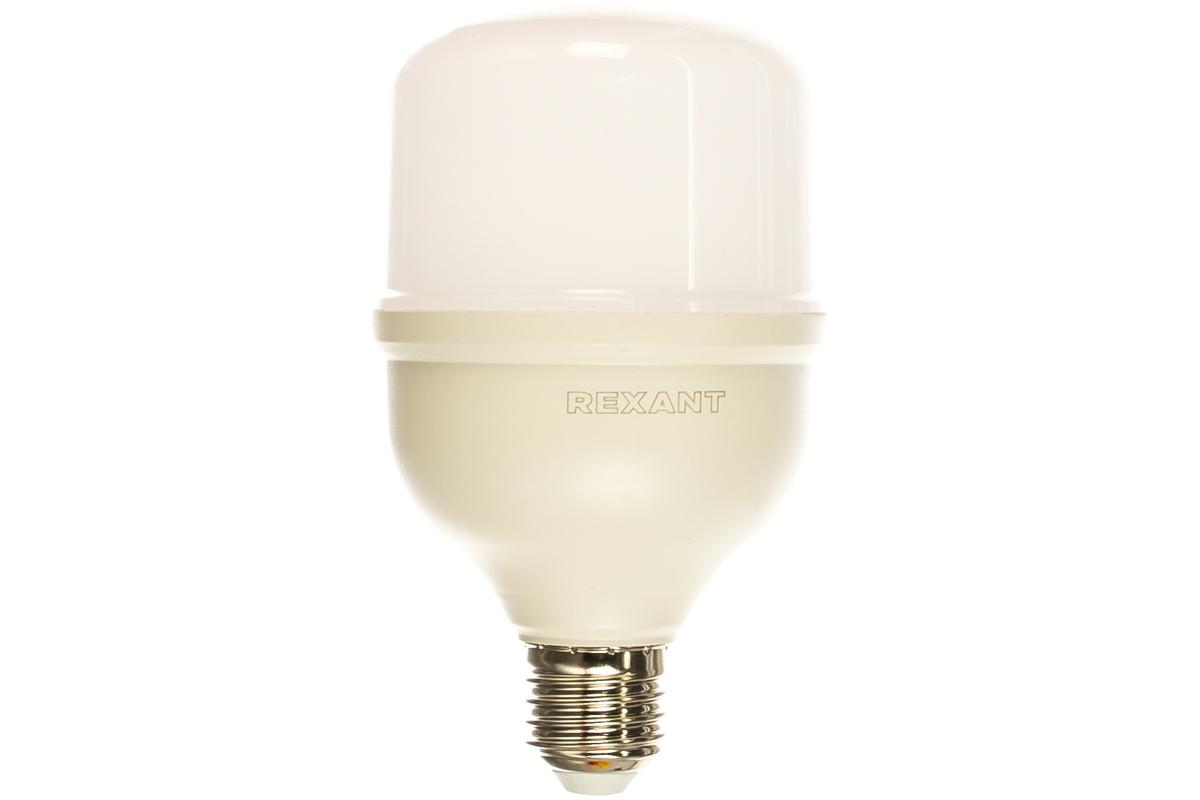 Лампа REXANT светодиодная высокомощная E27 переходник E40 холодный свет 30 Вт 604-069