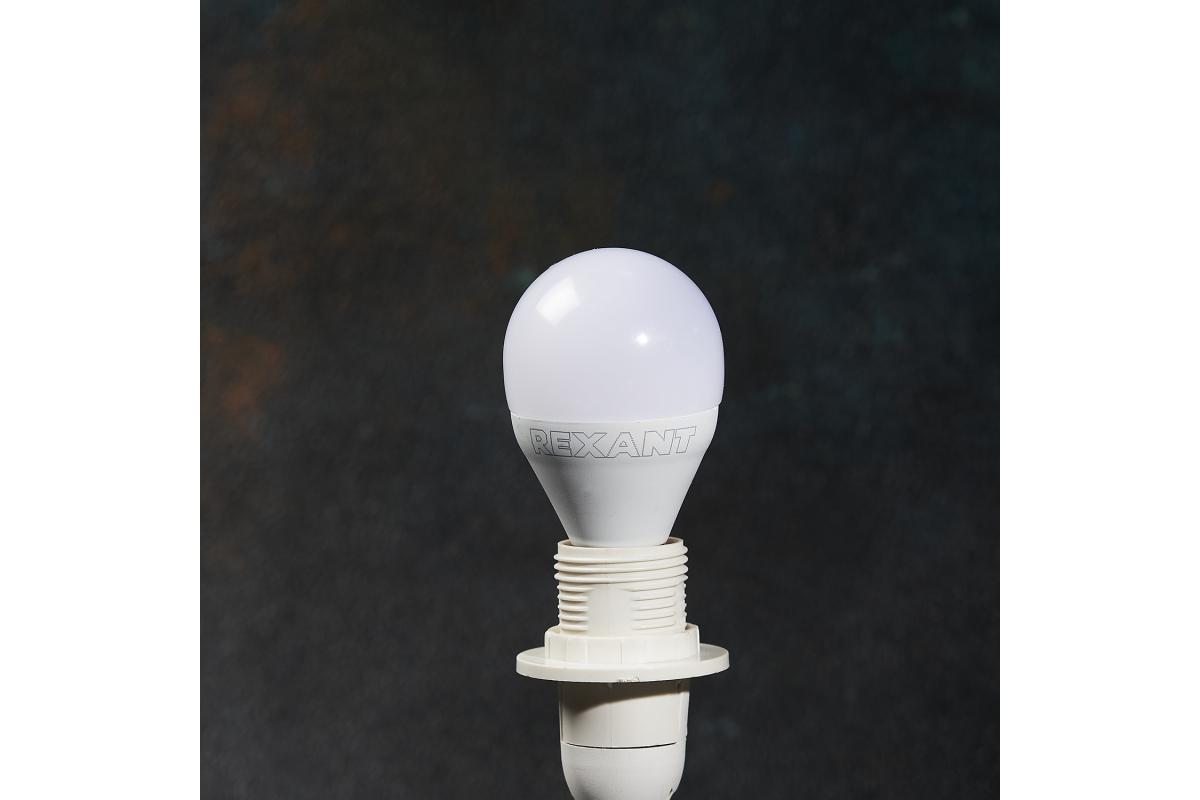 Светодиодная лампа REXANT Шарик 115 Вт E14 1093 лм 2700 K теплый свет 604-041