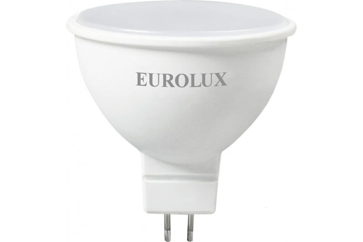 Светодиодная лампа Eurolux LL-E-MR16-7W-230-27K-GU5.3 рефлектор 7Вт теплый белый GU5.3/  76/2/23