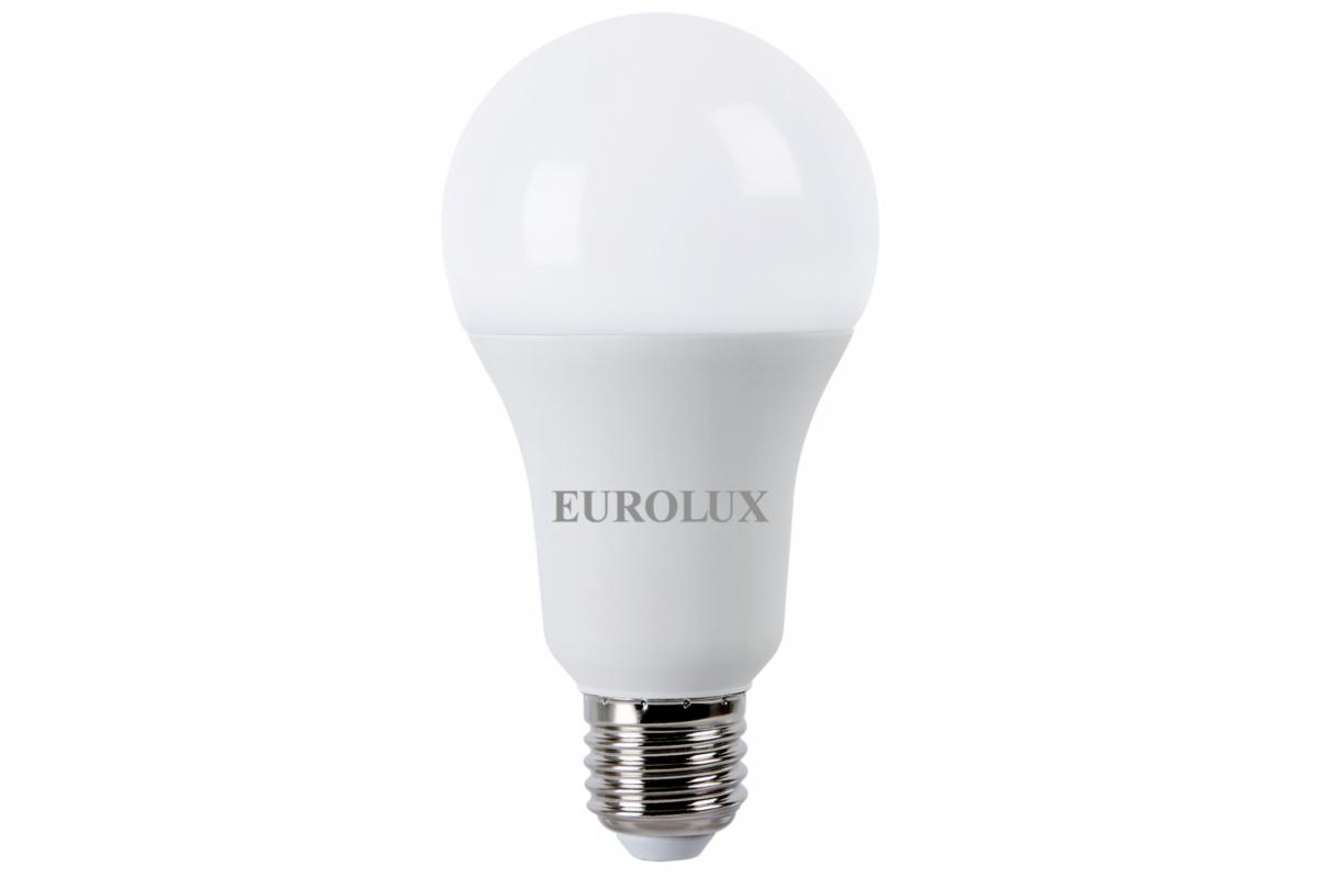 Светодиодная лампа Eurolux LL-E-A70-20W-230-27K-E27/груша 20Вт теплый белый Е27 76/2/21