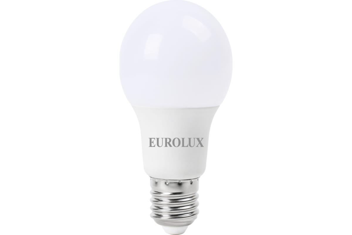 Светодиодная лампа Eurolux LL-E-A60-9W-230-27K-E27/груша 9Вт теплый белый Е27 76/2/13