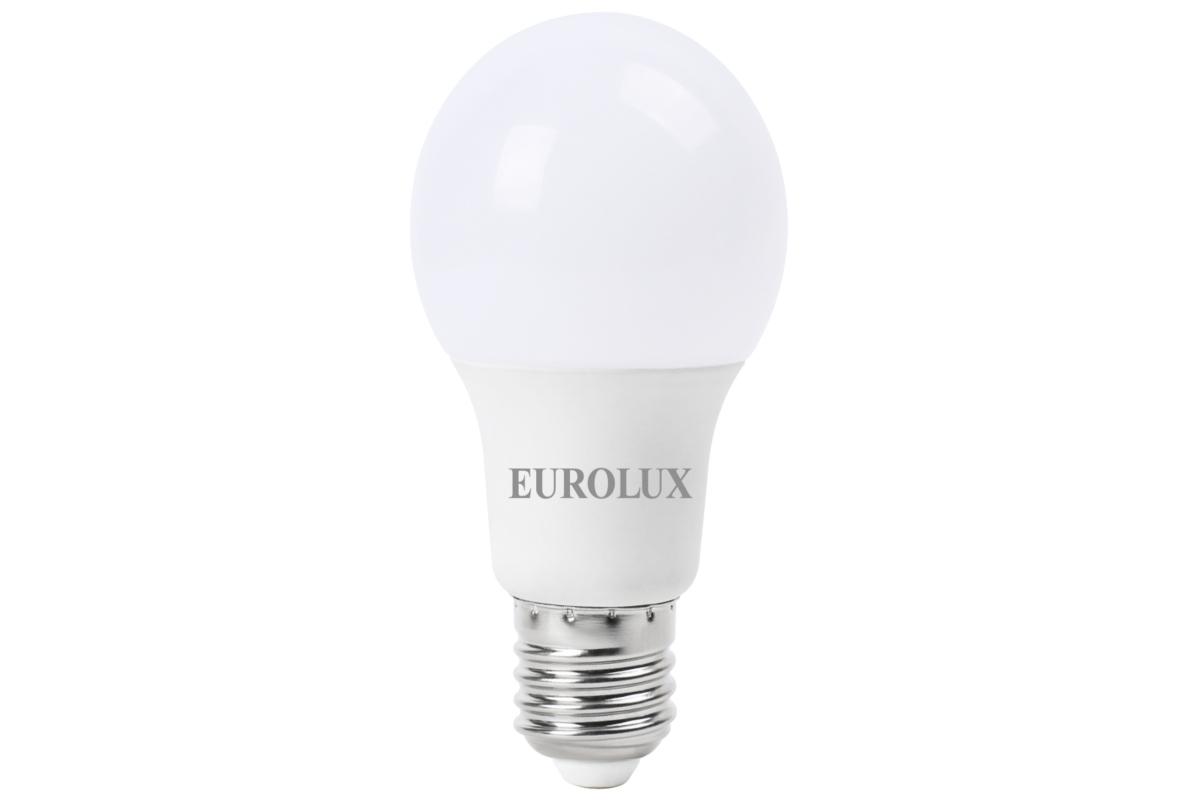 Светодиодная лампа Eurolux LL-E-A60-7W-230-27K-E27/груша 7Вт теплый белый Е27 76/2/11