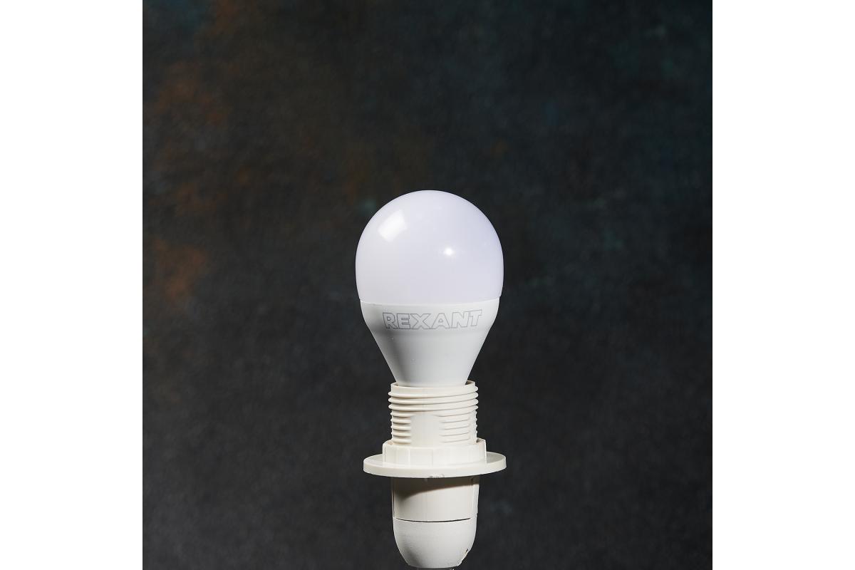 Светодиодная лампа REXANT шарик 95 Вт E14 903 лм 2700 K теплый свет 604-037
