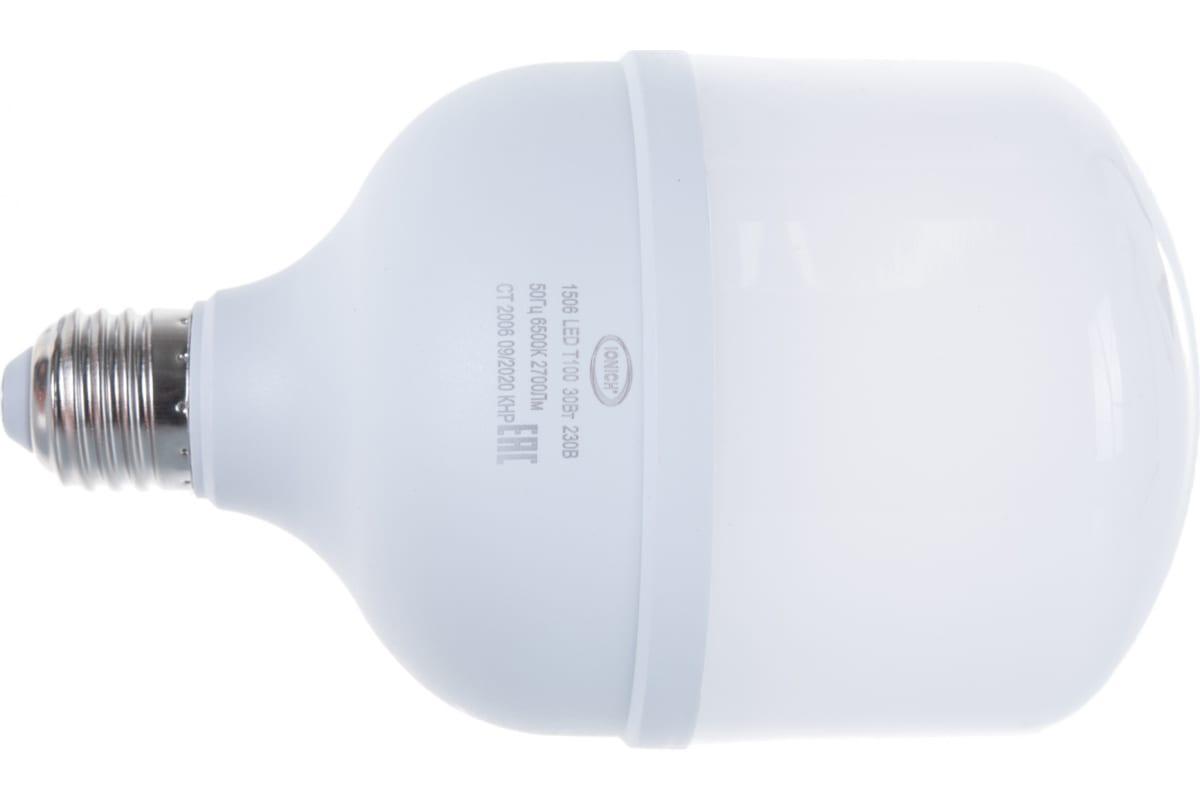 Лампа IONICH ILED-SMD2835-Т100-30-2700-220-6.5-E27 1506