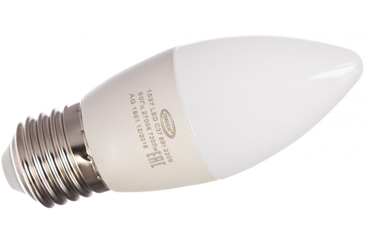 Лампа IONICH ILED-SMD2835-C37-8-720-230-2.7-E27 1537