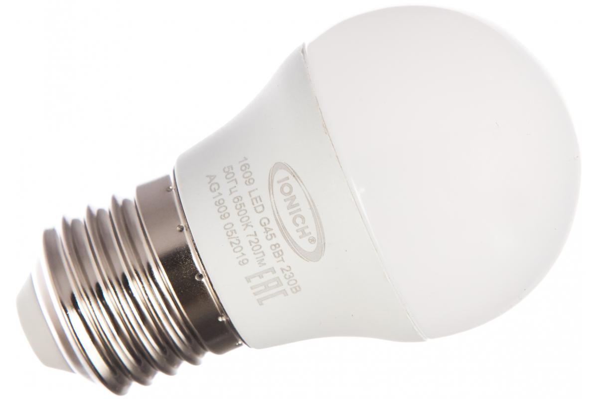 Лампа IONICH ILED-SMD2835-G45-8-720-230-6.5-E27 1609