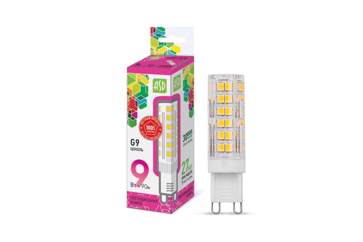 Светодиодная лампа ASD LED-JCD-std 9Вт 230В G9 6500К 810Лм 4690612026688