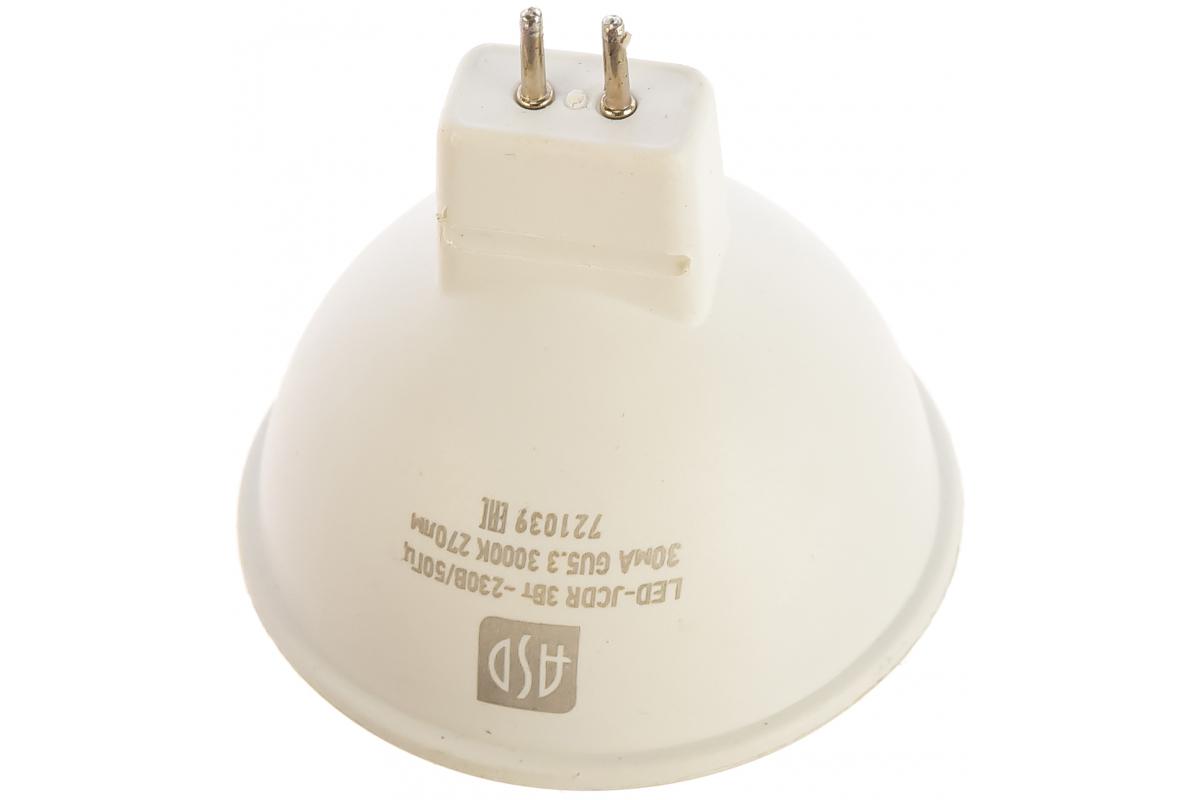 Светодиодная лампа ASD LED-JCDR-std 3Вт 230В GU5.3 3000К 270Лм 4690612002248