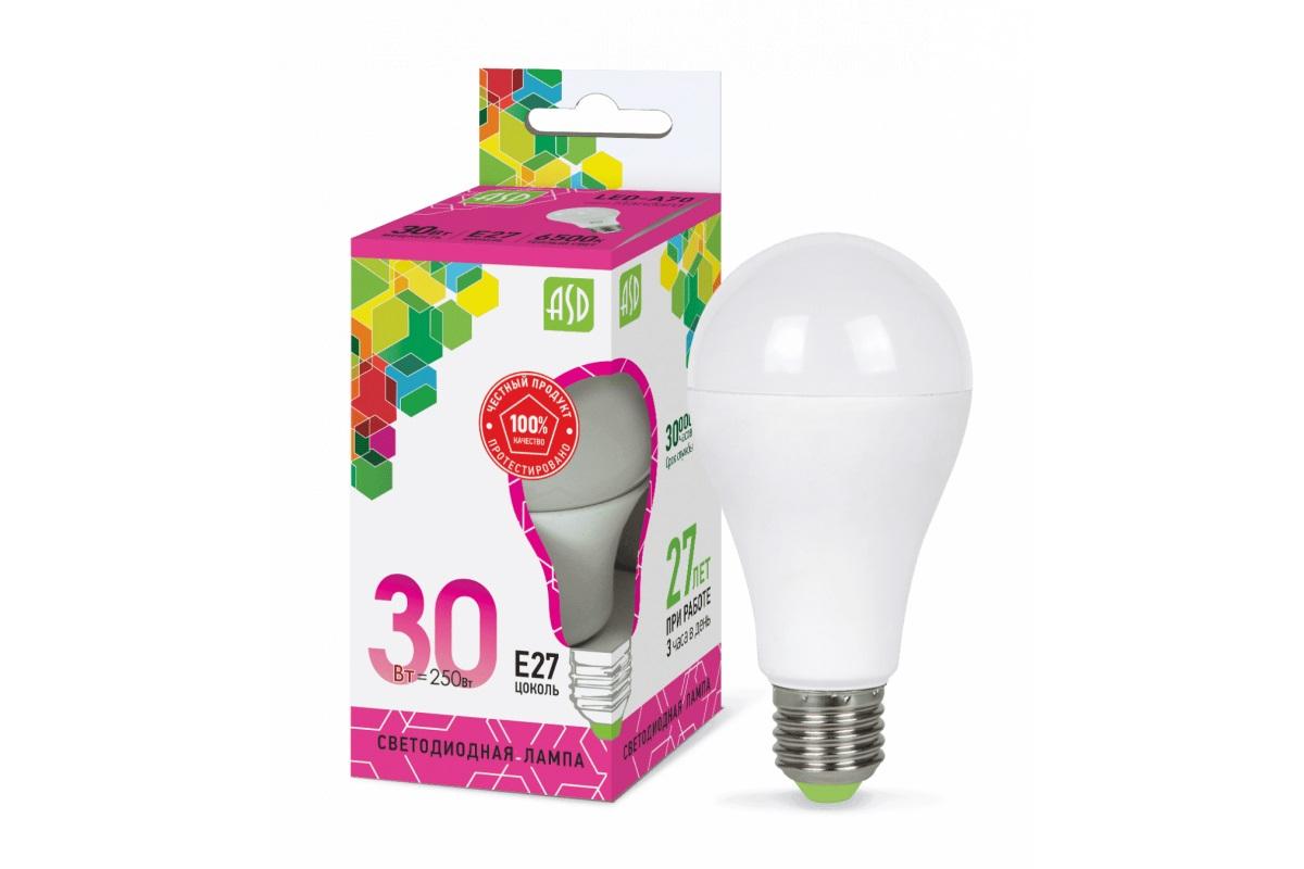 Лампа светодиодная ASD LED-A70-std 30Вт 230В Е27 6500К 2700Лм 4690612024677