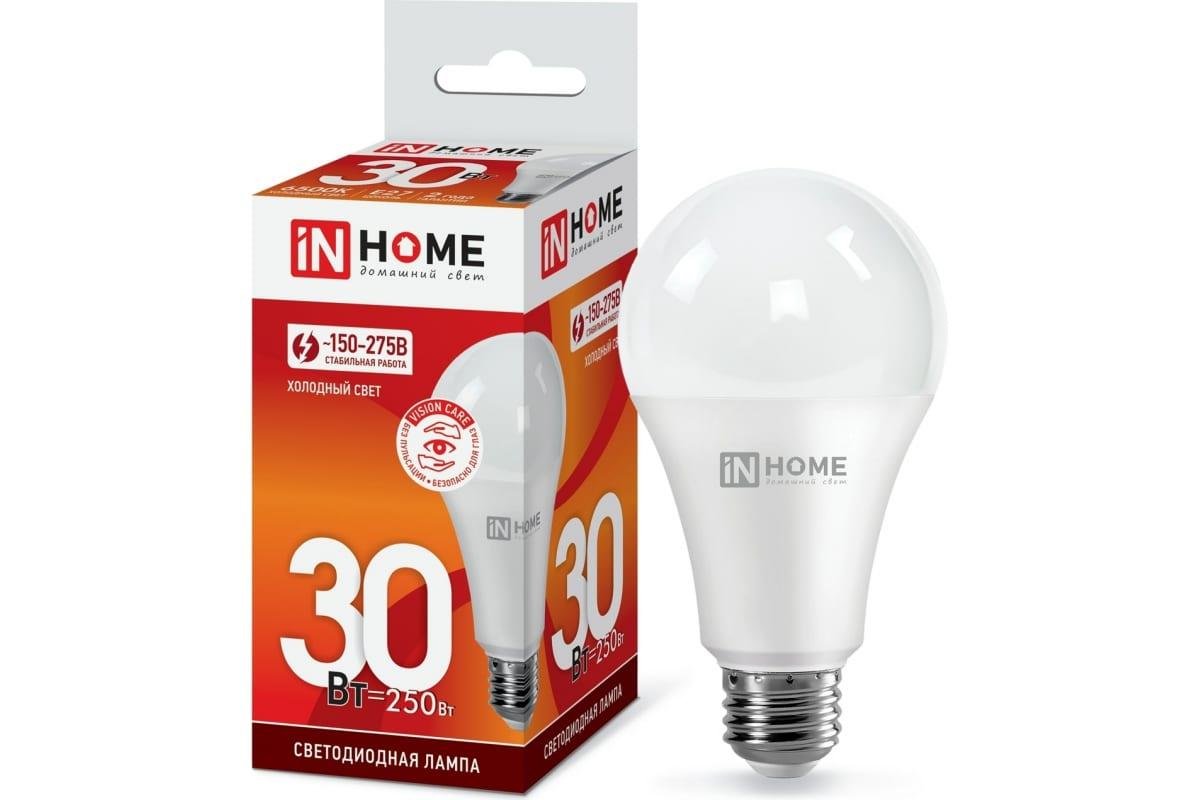 Светодиодная лампа ампа IN HOME LED-A70-VC 30Вт 230В Е27 6500К 2700Лм 4690612024165
