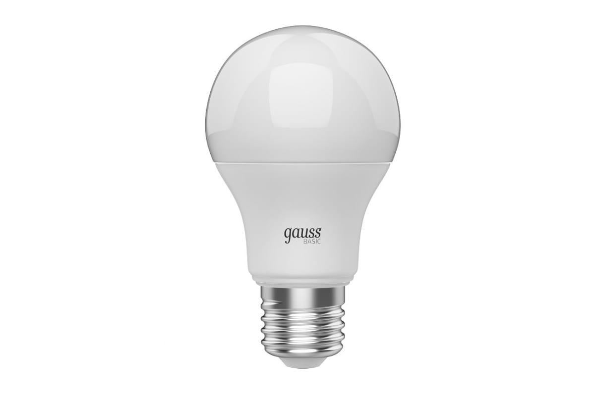 Лампа Gauss BASIC A60 95W E27 820lm 3000K-4000K-6500K 1/10/50 1023240