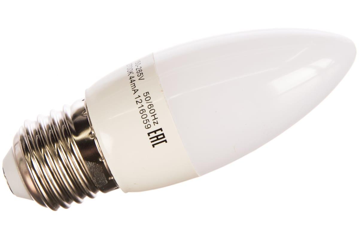 Светодиодная лампа LED E27 6.5W 3000К Gauss Candle 103102107