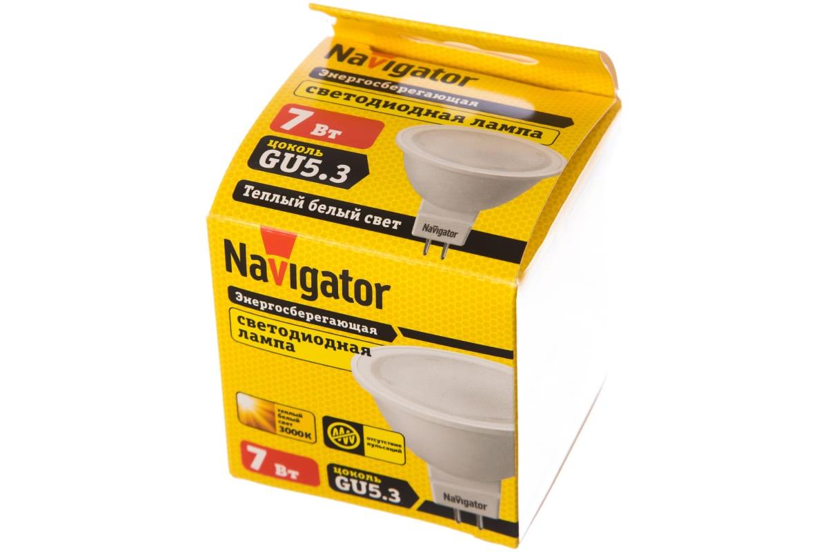 Светодиодная лампа Navigator 94 244 NLL-MR16-7-230-3K-GU5.3 4607136942448 286589