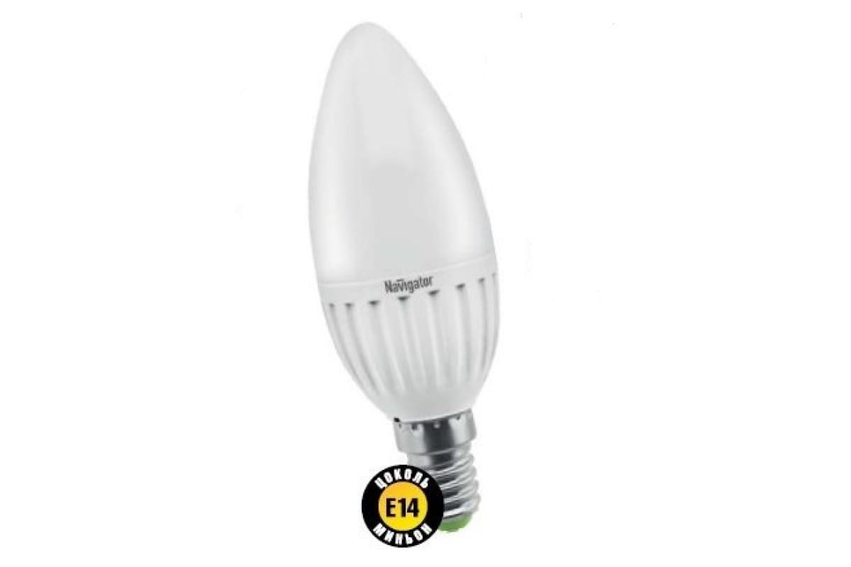 Светодиодная лампа Navigator 94 482 NLL-P-C37-5-230-4K-E14-FR 4607136944824 286604