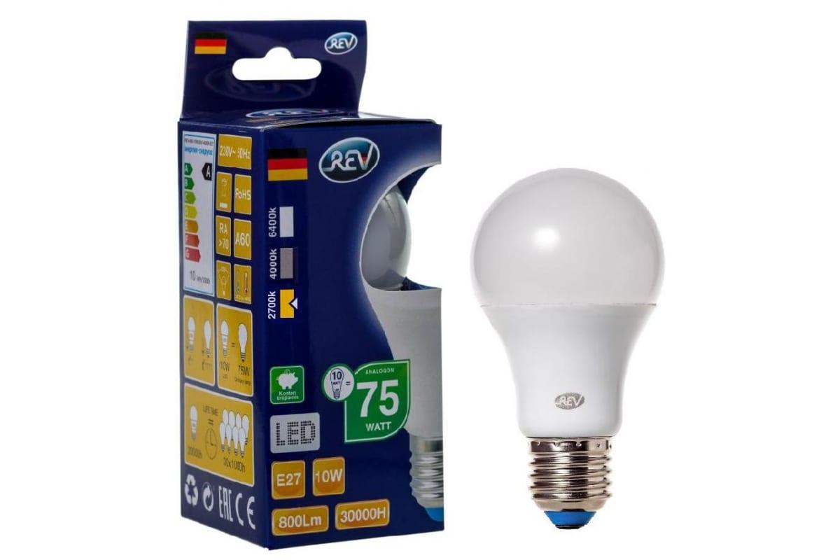 Светодиодная лампа LED A60 E27 10Вт 2700K REV 32266 5