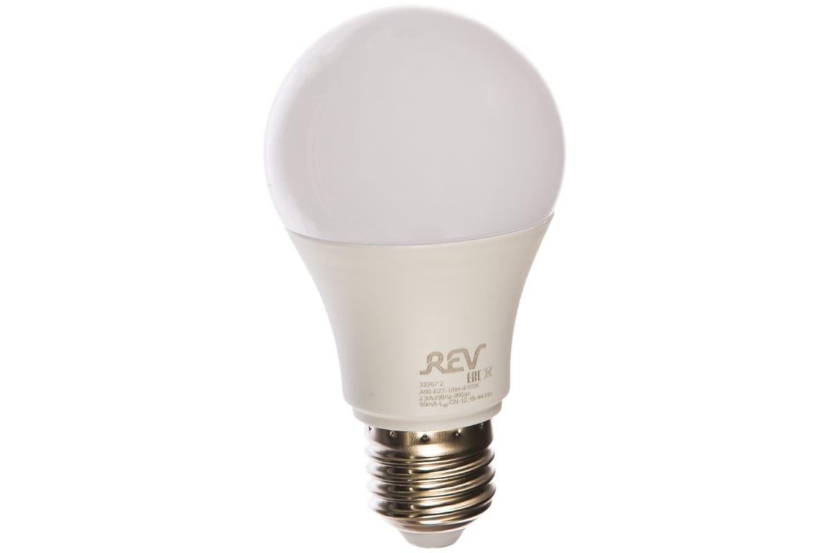 Светодиодная лампа LED A60 E27 10Вт 4000K REV 32267 2