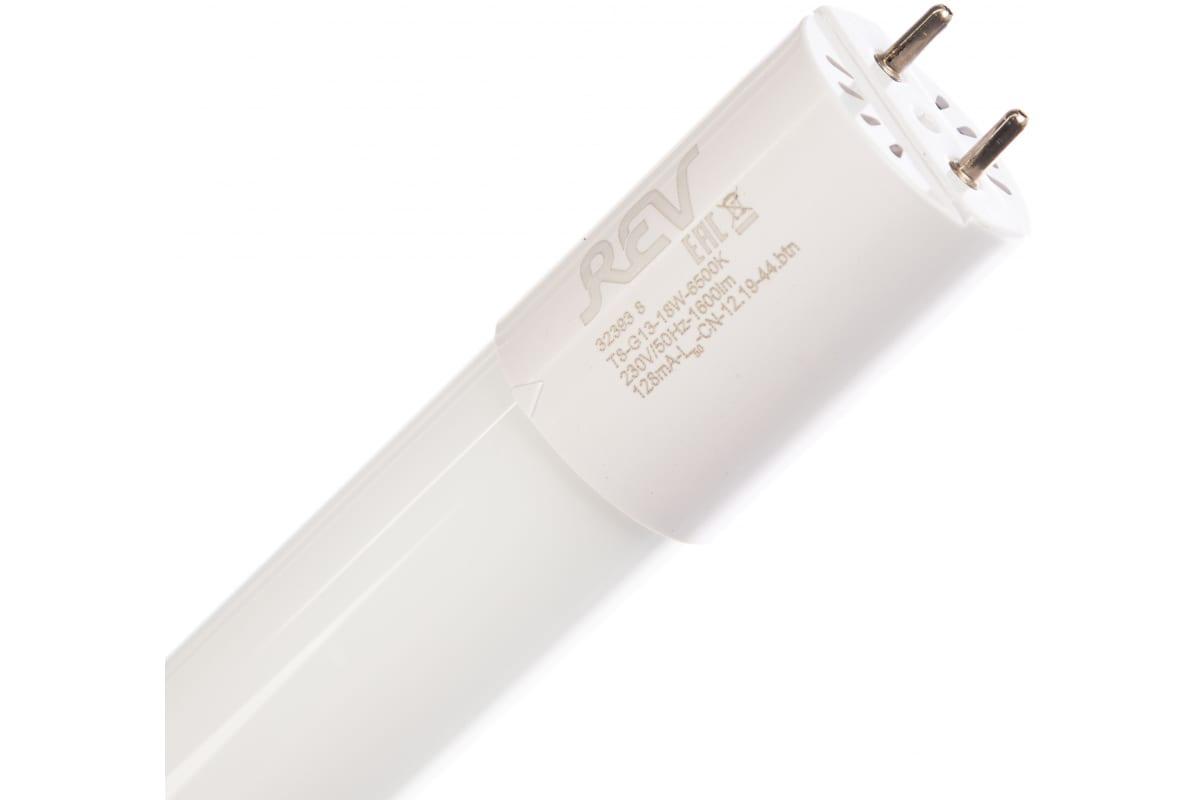 Светодиодная лампа LED T8 1200мм G13 18W 1680Лм 6500К холодный свет REV 32393 8