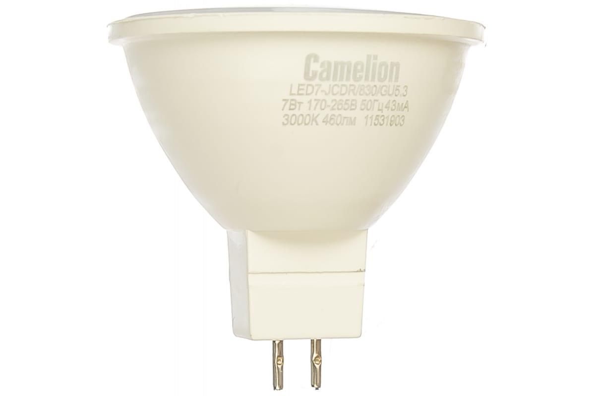 Светодиодная лампа 7Вт 220В Camelion LED7-JCDR/830/GU5.3 11656