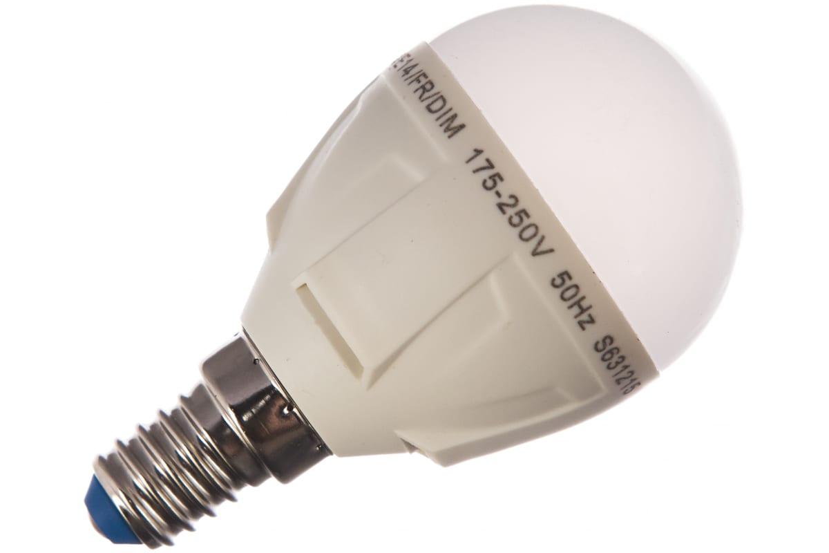 Светодиодная диммируемая лампа Uniel LED-G45-6W/NW/E14/FR/DIM PLP01WH UL-00000692
