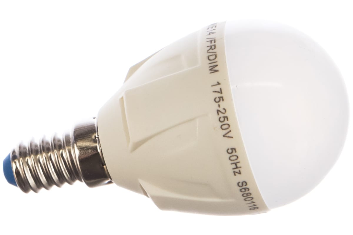Светодиодная диммируемая лампа Uniel LED-G45-6W/WW/E14/FR/DIM PLP01WH UL-00000694