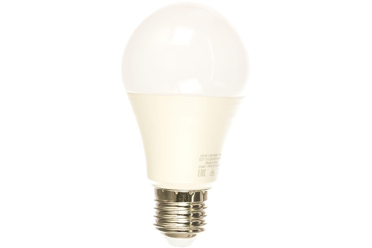 Светодиодная лампа - шар E27 12W 4000K FERON LB-93 25487