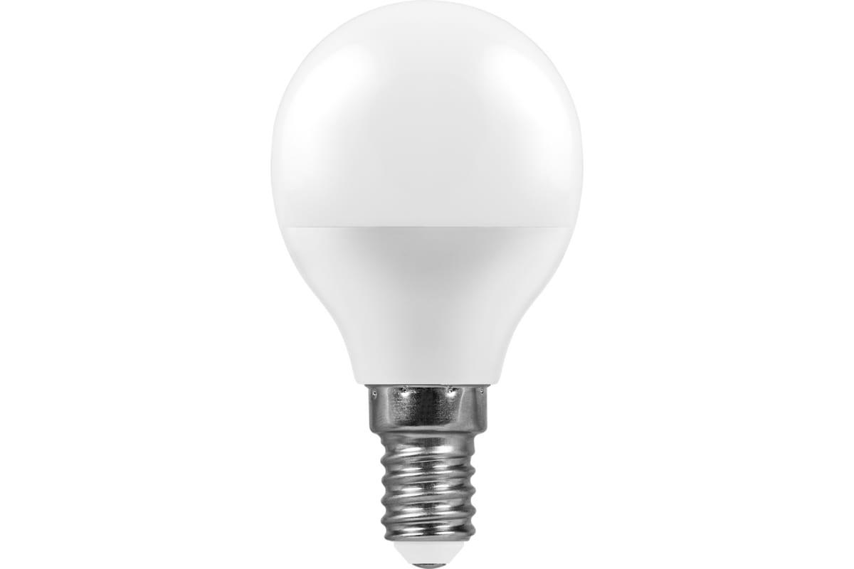 Светодиодная лампа - шарик E14 7W 4000K FERON LB-95 25479